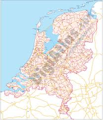 Map Of Netherlands Vectorized Maps Digital Maps Increase Search Engine Traffic