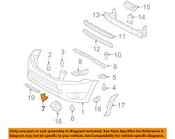 nissan rogue front bumper toyota oem 06 08 rav4 front bumper tow hook eye cover right