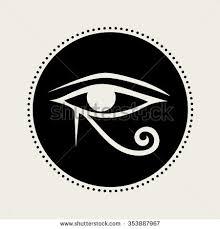 vector horus eye illustration stock vector 353887967