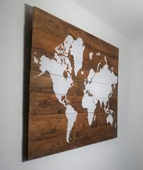 World Map Wood Wall Art by Classic Series U2013 Aries Den