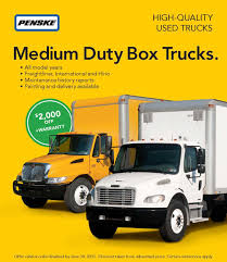 used trucks penske offering 2 000 discount on medium duty box truck purchases