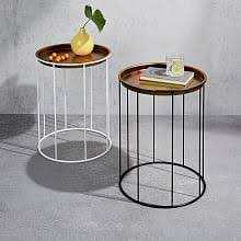 west elm accent table octavia side table marble iron flat living pinterest