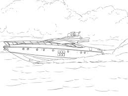Speed Boat Coloring Free Printable Coloring Pages