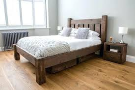 Solid Bed Frame King Rustic Bed Frames King Size Frame Modern Beds With Regard To Wood