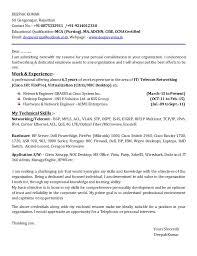 Network Engineer Sample Resume by Network Cover Letter Resume Cv Cover Letter