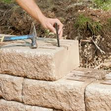 landscape block adhesive build a sturdy retaining wall that will last a lifetime