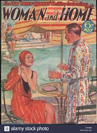 1930s uk woman and home magazine cover stock photo royalty free