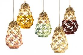 Light Fixture Collections Macrame Pendant Lights Three Collections By Parkes
