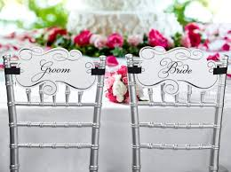 and groom chairs and groom chair signs madera estates