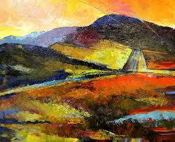 landscape painting abstract landscape ii by peggy wilson