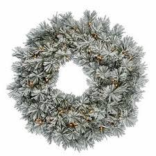 flocked wreath wayfair