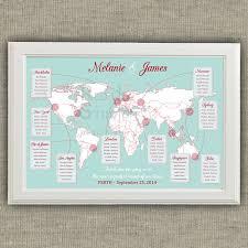 World Maps Printable by Travel Theme Wedding Seating Chart World Map Destinations