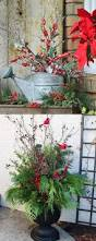 24 colorful outdoor planters for winter and christmas decorations