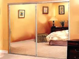 Closet Mirror Door Sliding Mirror Closet Doors For Bedrooms 3 Panel Door Lowes Wood