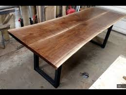 walnut live edge dining table four fields furniture youtube