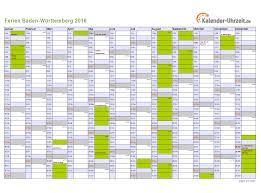 Ferienkalender 2018 Bw Ferien Baden Württemberg 2016 Ferienkalender Zum Ausdrucken