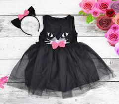 black cat tutu dress halloween costume kitty cat ears headband
