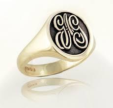 gold monogram rings monogram rings