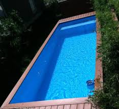 Hidden Patio Pool Cost by Architecht Stefan Beese Turns Dumpster Into Swimming Pool For His