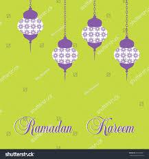 ramadan kareem lantern flat style bright stock vector 650703901
