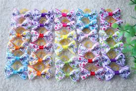 hair bow supplies new various style pet dog bows pet hair bows rubber bands dog bow