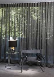 modern house with sheer curtains length sheer