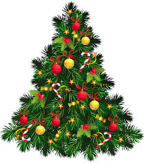 transparent christmas tree with ornaments png picture clipart