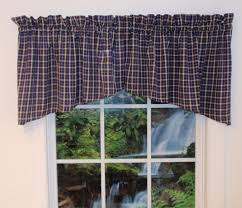 navy blue valances curtains thecurtainshop com