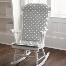 Nursery Rocking Chair Pads Gray And White Dots And Stripes Rocking Chair Pad Rocking Chair