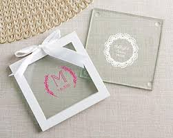 coaster favors personalized glass coasters rustic charm wedding set of 12
