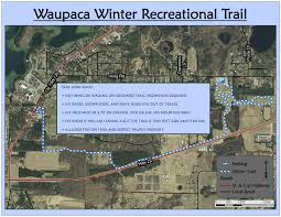 Wisconsin Snowmobile Trails Map by Waupaca County Parks