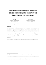 tax risk management analysis comparison between the united states