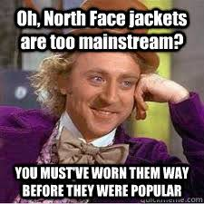 North Face Jacket Meme - fashion at the university of hartford alive cus