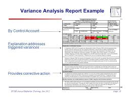 project analysis report template evms refresher and update ppt