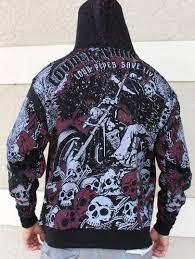biker mens zip up hoodie louder than before harley riders