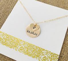 gold filled necklace images Gold date necklace personalized mom necklace date necklace jpg