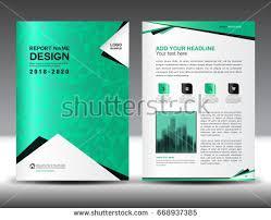 annual report brochure flyer template green stock vector 668937385