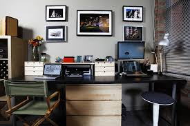 sweet home office design ideas with white wall painting and cute