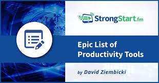 epic list of 141 productivity tools strongstart fm