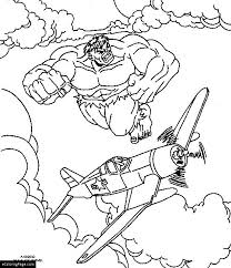 marvel superhero incredible hulk attacked airplane