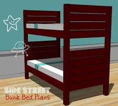 Plans To Build A Bunk Bed Ladder by Ana White Side Street Bunk Beds Diy Projects