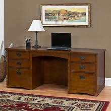 Craftsman Style Computer Desk Mission Style Home Office Desks Amish Made Oak U0026 Craftsman