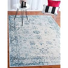 5 By 8 Area Rugs Unique Loom Sofia Collection Light Blue 5 X 8 Area Rug
