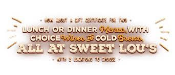 dinner gift cards sweet lou s gift cards sweet lou s