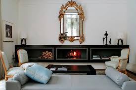Fireplace Storage by Decoration Clear White Painted Wall Luxury Wall Mirror With Gold