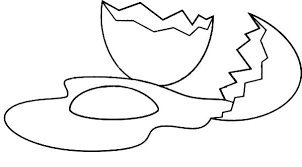 Broken Egg On The Floor Coloring Pages Best Place To Color Egg Colouring Page