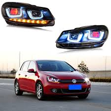 volkswagen golf 1980 demon eyes led headlights for 2010 2014 vw golf mk6 gti projector