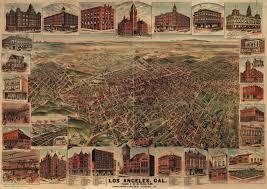 Map Of Los Angeles California by Elliott U0027s Map Of Los Angeles 1891