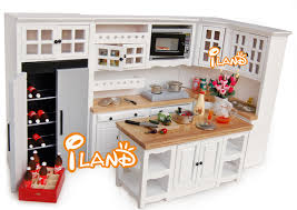 dollhouse furniture kitchen dollhouse kitchen miniature iland white 1 12 dollhouse