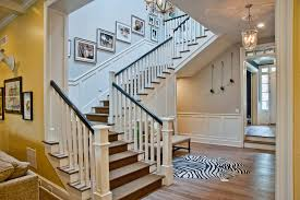 Wood Banister Picture Frames On Staircase Staircase Traditional With White Stair
